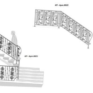 Кованые перила Арт. 0020, 0021