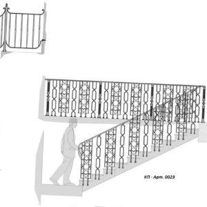 Кованые перила Арт. 0022, 0023
