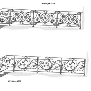 Кованые перила Арт. 0024, 0025