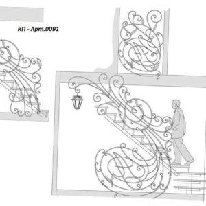 Кованые перила Арт. 0091