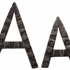 Кованная буква А ручной работы НС-814