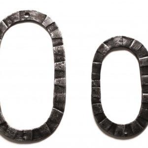 Кованная цифра ноль 0 ручной работы