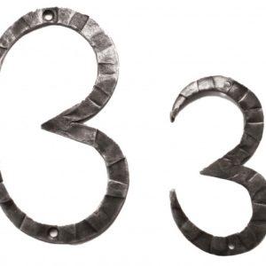 Кованная цифра три 3 ручной работы