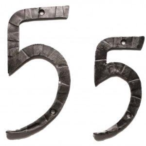 Кованная цифра пять 5 ручной работы