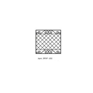 Кованая решетка 001