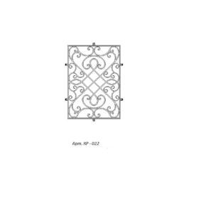 Кованая решетка 022