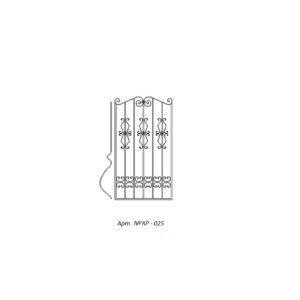 Кованая решетка 025